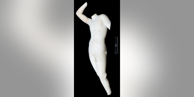 Statue of a nude male discovered at Qalatga Darband