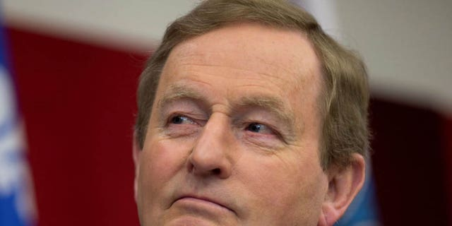Ireland's Taoiseach (Prime Minister) Enda Kenny waits to speak to members of the Irish community at the School of Irish Studies at Concordia University during his visit to Montreal, Quebec, Canada May 4, 2017. REUTERS/Christinne Muschi - RTS1566J