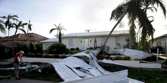 Hurricane Irma left a path of destruction in Goodland, Florida.