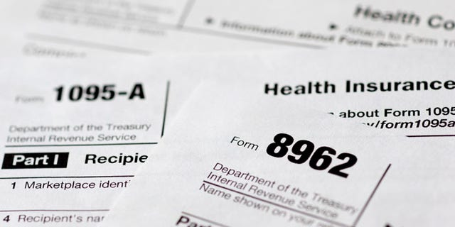 FILE:  Health care tax forms 8962, 1095-A, and 8965, in Washington, D.C. (AP)