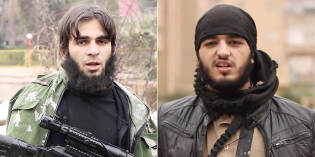 The French-speaking ISIS fighters show their faces, an indication that they have no intention of coming back to France. (Screengrab courtesy of TRAC)