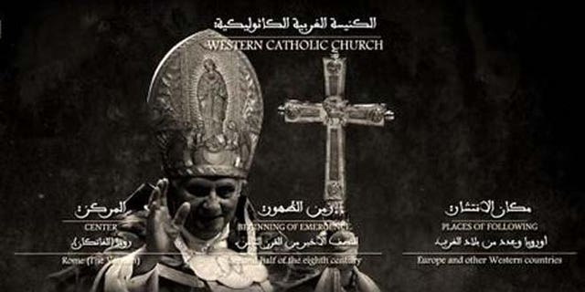 Calls for death to the pope predate Francis, as with this ISIS propaganda threat against Pope Benedict.