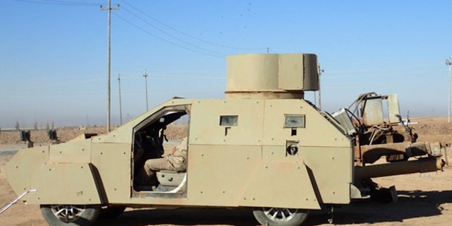 An ISIS-made suicide vehicle, known as an SVBIED.