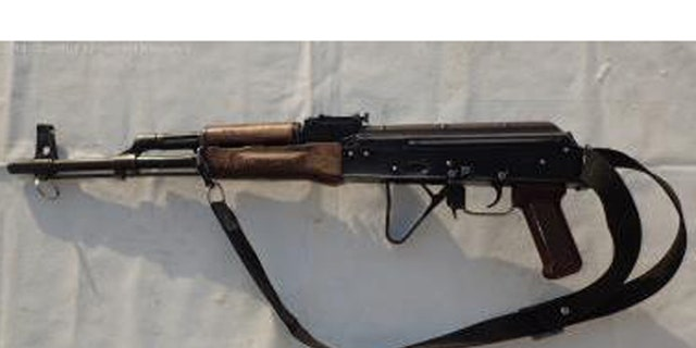 A Russian AKM assault rifle from 1975 that Morrow said is typical of what her team finds.  This rifle was captured from ISIS in 2014 in northern Iraq.