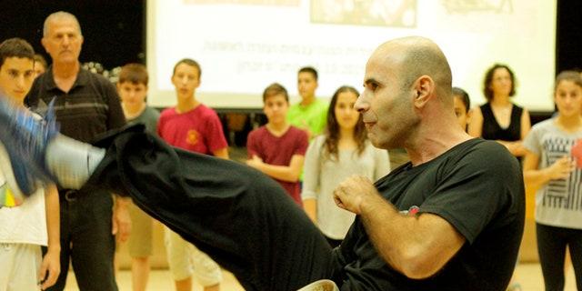 Israelis are flocking to self defense instruction classes such as this one, in Haifa. (Courtesy: Roi Elyashar, Krav Maga Israel)