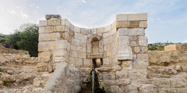 The fountain at the Ein Hanniya site (Photo: Assaf Peretz, Israel Antiquities Authority)