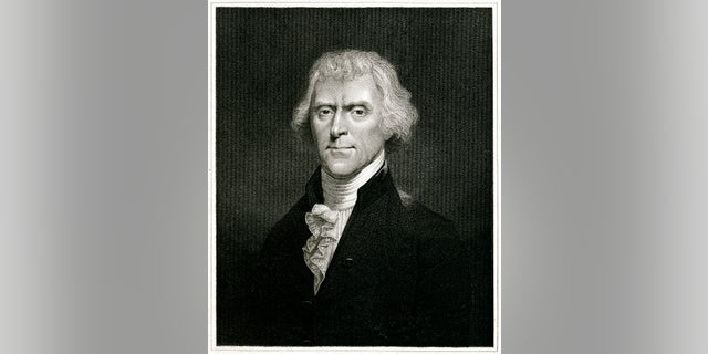 Engraving From 1837 Featuring The American  President, Thomas Jefferson.  Wilberforce Lived From 1743 Until 1826.
