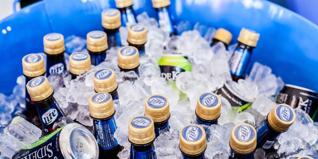 Chicago, USA - June 15, 2013: Miller Lite and SideKick Extra Pale Ale on Ice for a Party