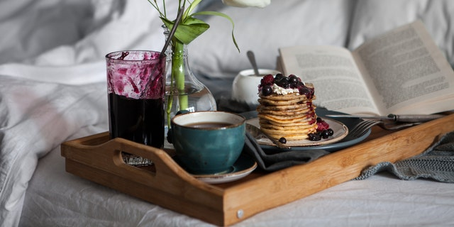Make it extra special with lemon ricotta pancakes, fancy overnight oats and a peach mimosa.