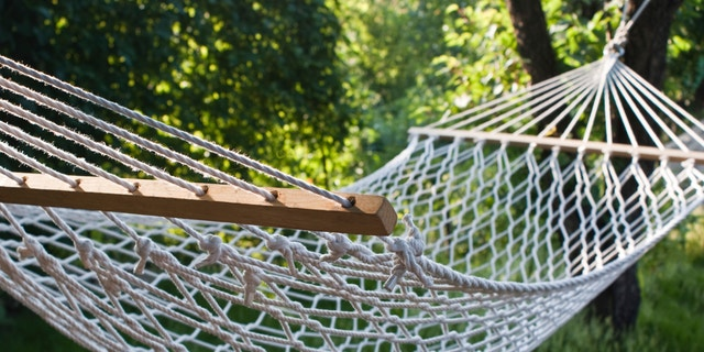 hammock on a grassy field