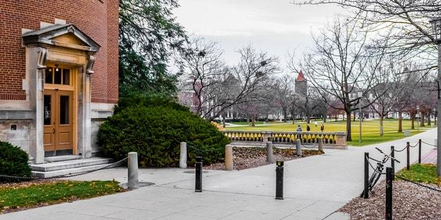 Main quad of University of Illinois at Urbana-Champaign