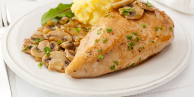 Favourite  Italian American dish,chicken marsala is cooked in a rich sweet marsala sauce with mushrooms, and served with creamy mashed potato.