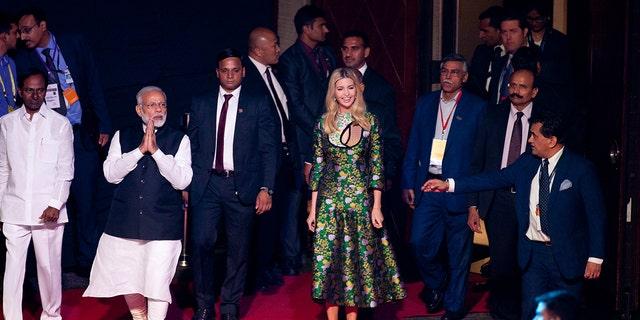 Ivanka Trump arriving at the Summit.