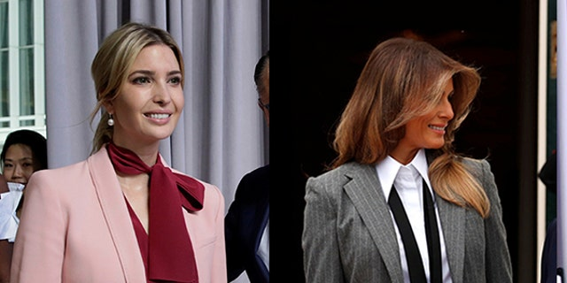 Both Trump women have stepped out in sharp suits for official engagements.