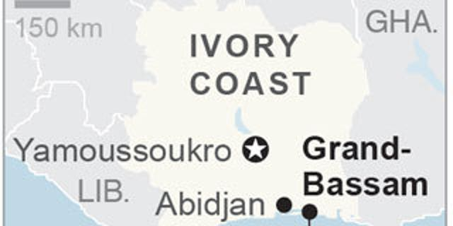 Gunfire was reported in Grand-Bassam.