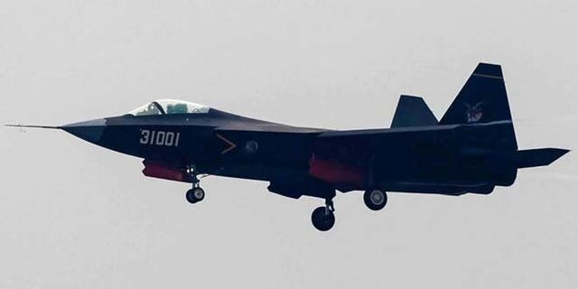 Shown here is China's new J-31 fighter jet.