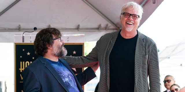 """Tim Robbins attended Jack Black's Hollywood Walk of Fame ceremony. The two starred in the HBO series """"The Brink."""""""