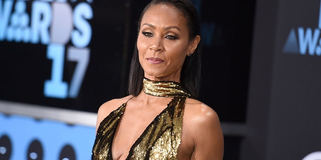 In this June 25, 2017, file photo, Jada Pinkett Smith arrives at the BET Awards at the Microsoft Theater in Los Angeles. Smith told SiriusXM radio in an interview Wednesday, July 19, 2017, that she was a drug dealer when she first met Tupac Shakur in high school in Baltimore in the late 1980s.