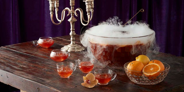 Wicked Black Forest Punch in a punch bowl.