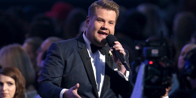 James Corden featured a comedy bit that involved Hillary Clinton at the 2018 Grammy Awards.