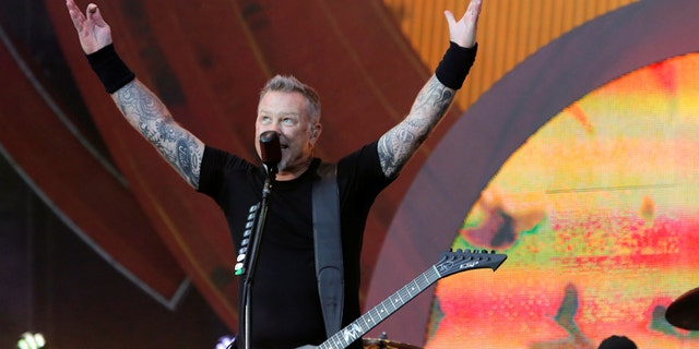 James Hetfield of Metallica performs at the Global Citizen Festival at Central Park in Manhattan, New York, U.S., September 24, 2016.