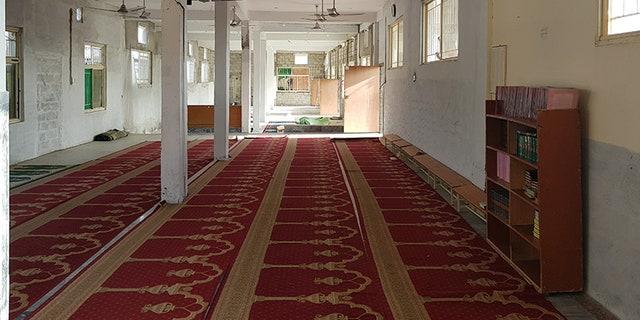 Inside Aziz's seminary.