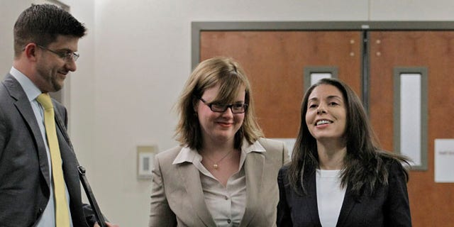 FoxNews.com reporter Jana Winter, right, and her attorneys battled the Colorado decision in a case that finally ended when the US Supreme Court left in place a New York court's decision.