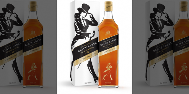 """Johnnie Walker replaced the Striding Man logo for limited-edition bottles of Jane Walker, as a way to celebrate the achievements of """"women and everyone on the journey towards progress in gender equality."""""""