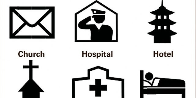 Six symbols will be replaced, including one the represent a police station, now to be denoted by a saluting officer.