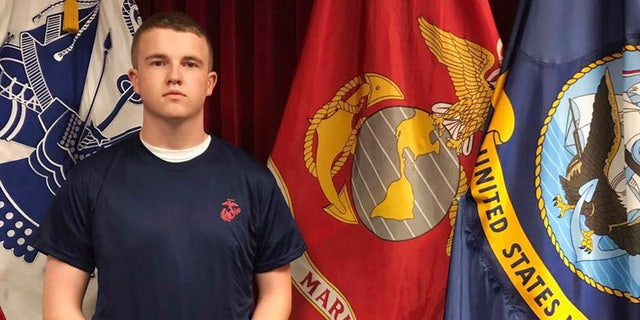 Tyler Jarrell, 18, enlisted in the U.S. Marine Corps just days before he was killed in a ride accident at the Ohio State Fair.