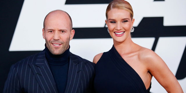 Statham with his long-time partner, supermodel Rosie Huntington-Whiteley.