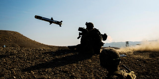 A U.S. soldier fires a Javelin antitank missile in Afghanistan in this 2015 photo.