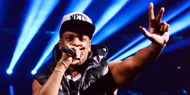 Sept. 28, 2012: Rapper Jay-Z performs the inaugural concert at the Barclays Center in Brooklyn.