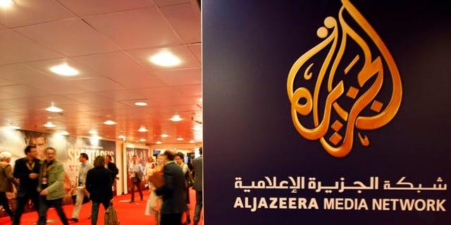 Apr. 2, 2012: The logo of  Al Jazeera Media Network is seen at the MIPTV, the International Television Programs Market, event. (Reuters)