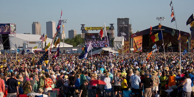performs during the New Orleans Jazz & Heritage Festival 2014 at the Fairgrounds Race Track, New Orleans Louisiana.