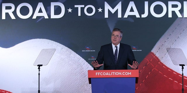 Former Florida Gov. Jeb Bush (R) speaks at the Faith & Freedom Coalition conference, June 14, 2013 in Washington, DC.