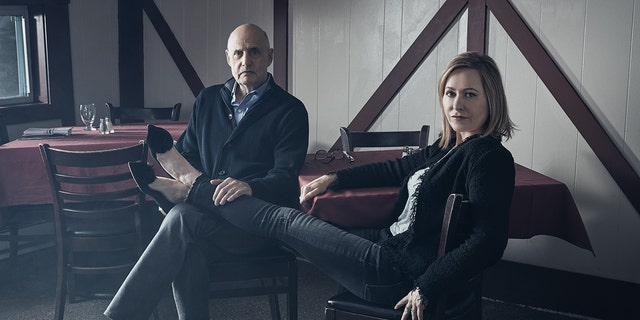 Jeffrey Tambor and his wife Kasia Ostlun pose for a photo for The Hollywood Reporter.
