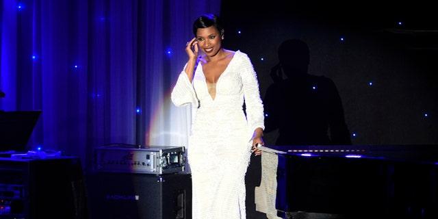 Jennifer Hudson performed at Clive Davis' annual pre-Grammy bash.
