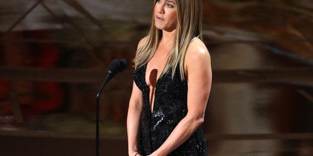 "89th Academy Awards - Oscars Awards Show - Jennifer Aniston introduces the ""In Memoriam"" segment."