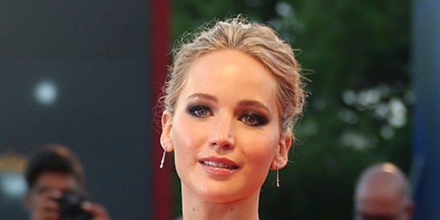 Jennifer Lawrence poses for photographers at the premiere of the film 'mother!' at the 74th edition of the Venice Film Festival in Venice, Italy, Tuesday, Sept. 5, 2017.