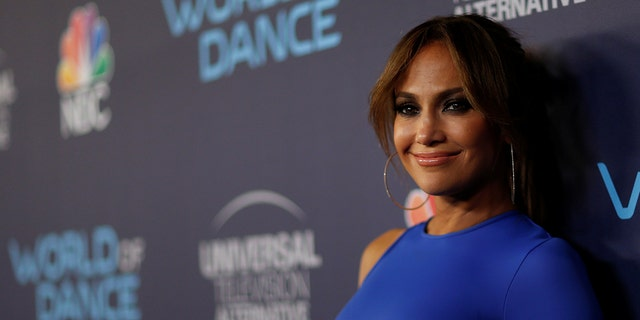 """Judge Jennifer Lopez poses at an event for the television series """"World of Dance"""" in West Hollywood, California, U.S., September 19, 2017."""