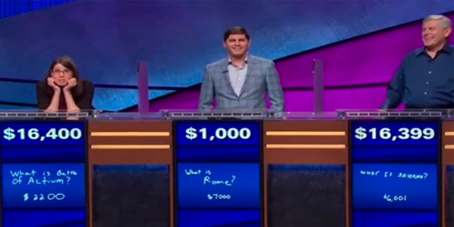 """""""Way to go young lady!"""" host Alex Trebek exhorted as Lisa stared in disbelief."""
