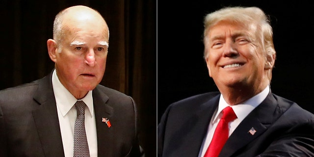 """California Gov. Jerry Brown said, """"I don't think — President Trump has a fear of the Lord, the fear of the wrath of God."""""""