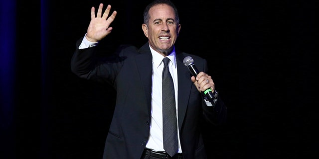 Jerry Seinfeld performing at Stand Up For Heroes in New York
