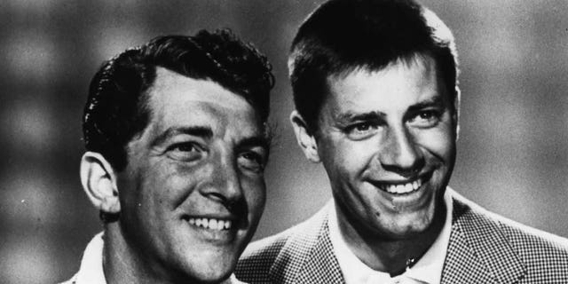 Jerry Lewis (right) alongside pal Dean Martin.