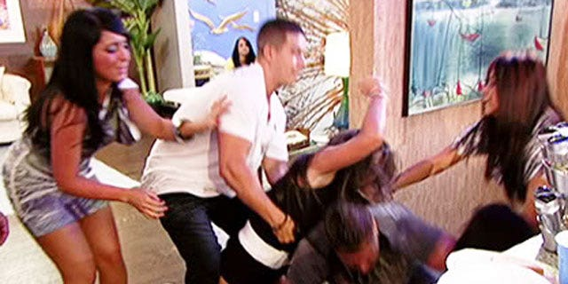 A fight breaks out on 'Jersey Shore.'