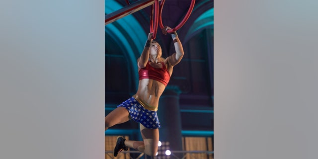 """Jessie Graff competes on an episode of """"American Ninja Warrior"""" on June 1, 2016."""