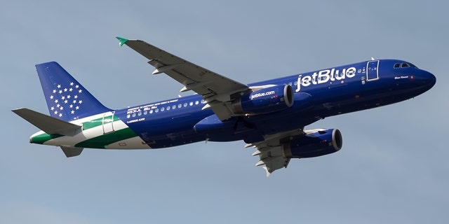 """JetBlue's new Airbus 320, named """"Blue Finest,"""" honors the NYPD."""