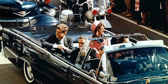 President Kennedy and First Lady Jackie Kennedy on Nov. 22, 1963 moments before he was assassinated.