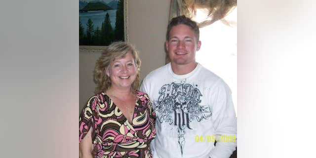 Jill Stephenson with her late son, Benjamin Kopp, who died in 2009 while on the battlefield in Afghanistan.
